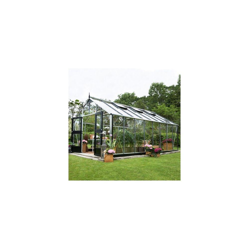 serre de jardin en verre tremp jardinier hors tout aluminium juliana plantes et jardins. Black Bedroom Furniture Sets. Home Design Ideas