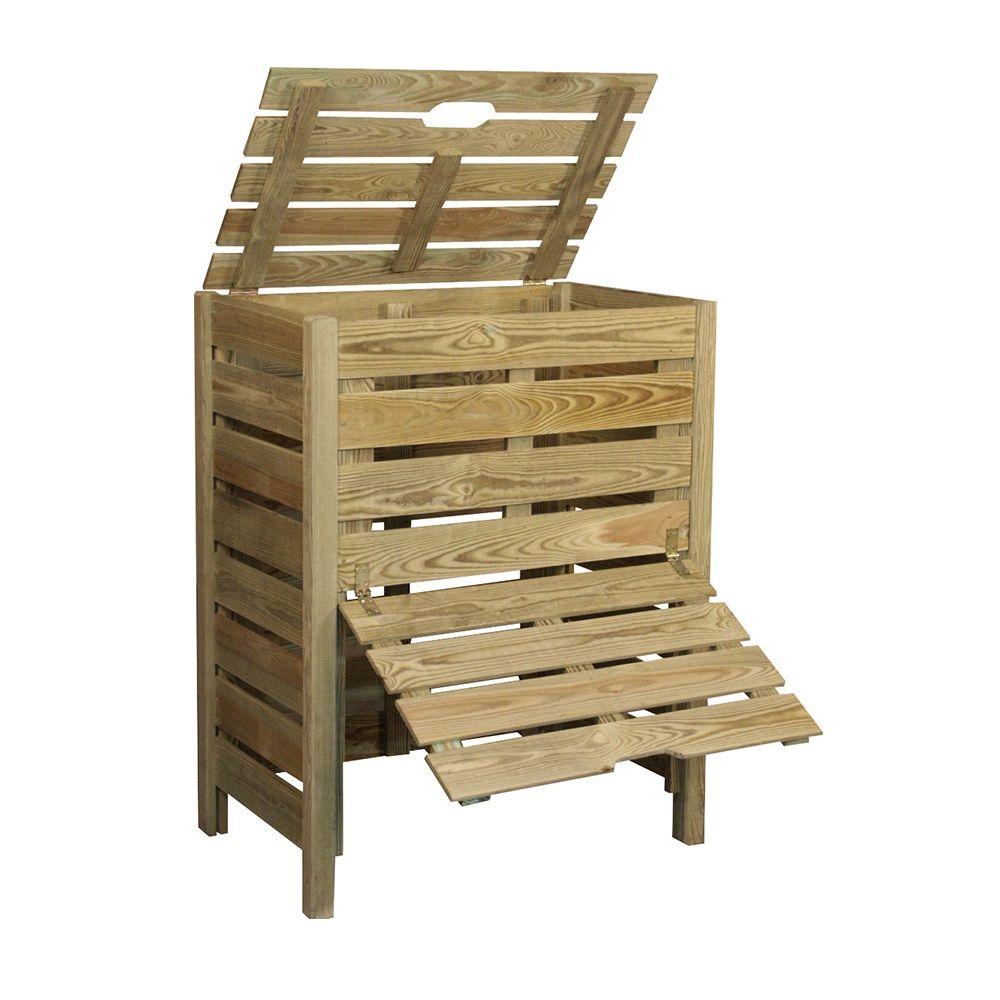 composteur bois 400 l jardipolys plantes et jardins. Black Bedroom Furniture Sets. Home Design Ideas