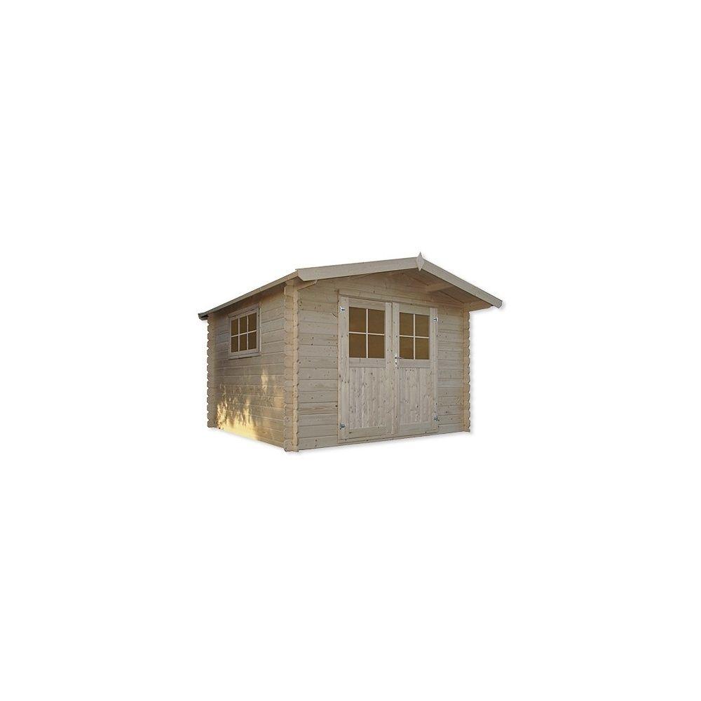 Abri de jardin m2 bois 28 mm pefc fen tre basculante for Abri de jardin 8 m2