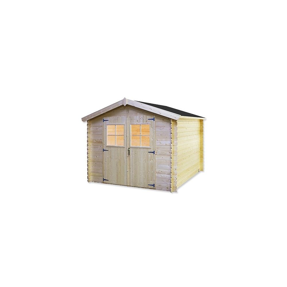 Abri de jardin 7 70 m2 bois 19 mm pefc bear county for Bear county abri de jardin