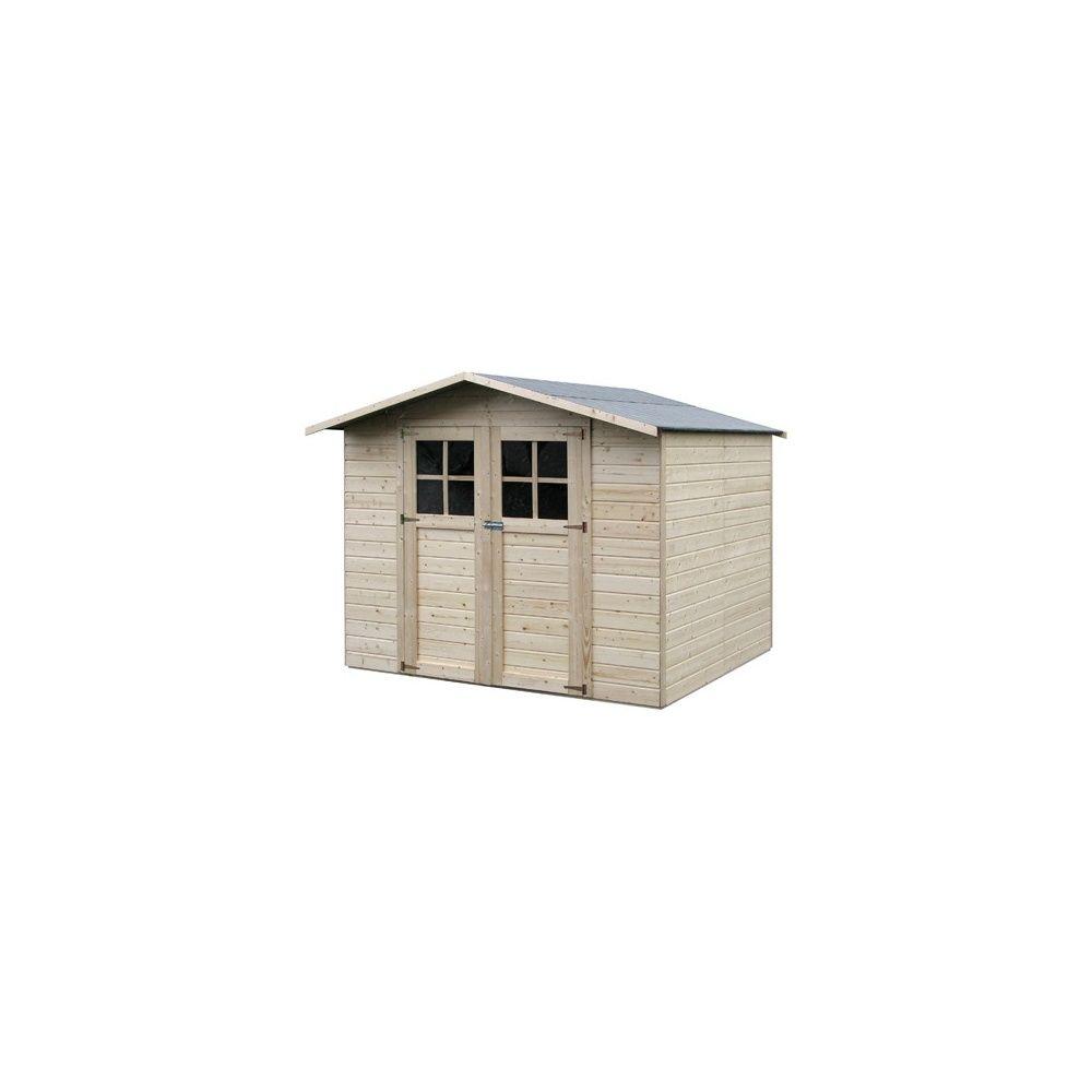 Abri de jardin lode m2 panneau 12 mm bois pefc avec plancher plantes et jardins - Abri de jardin en bois avec plancher ...