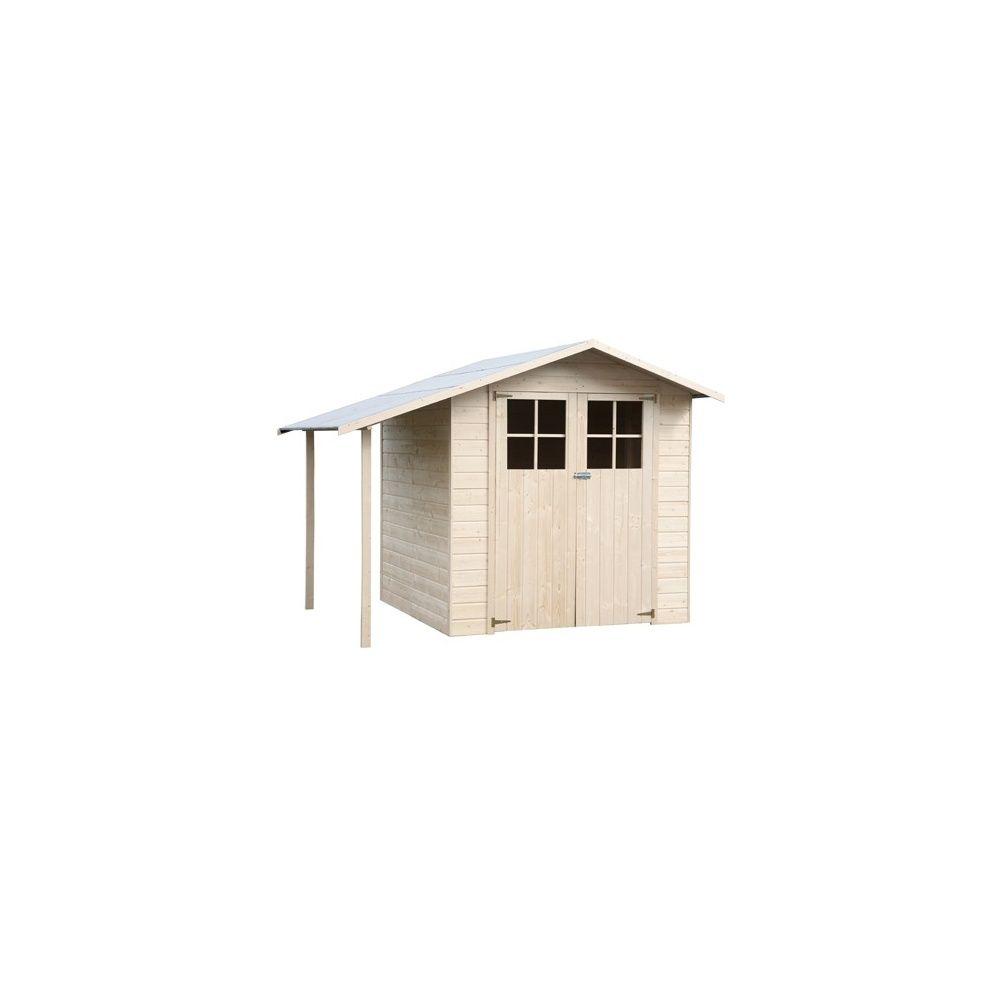 abri de jardin 3 36 m2 bois 15mm avec plancher et b cher de 1 9 m2 plantes et jardins. Black Bedroom Furniture Sets. Home Design Ideas