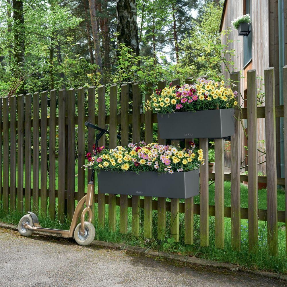 Jardini re lechuza balconera trend l80 h19 cm gris - Jardiniere plastique grande taille ...