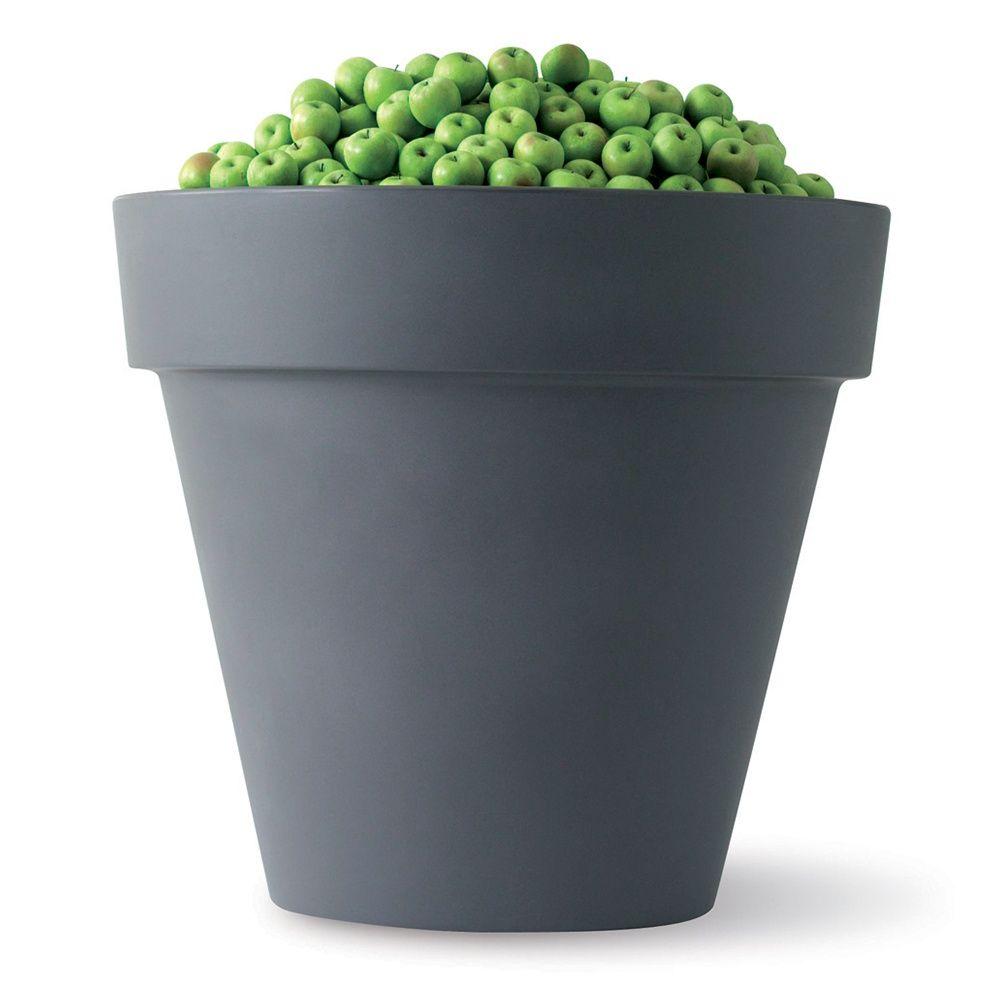 pot elho pure 60 h54 cm anthracite plantes et jardins. Black Bedroom Furniture Sets. Home Design Ideas