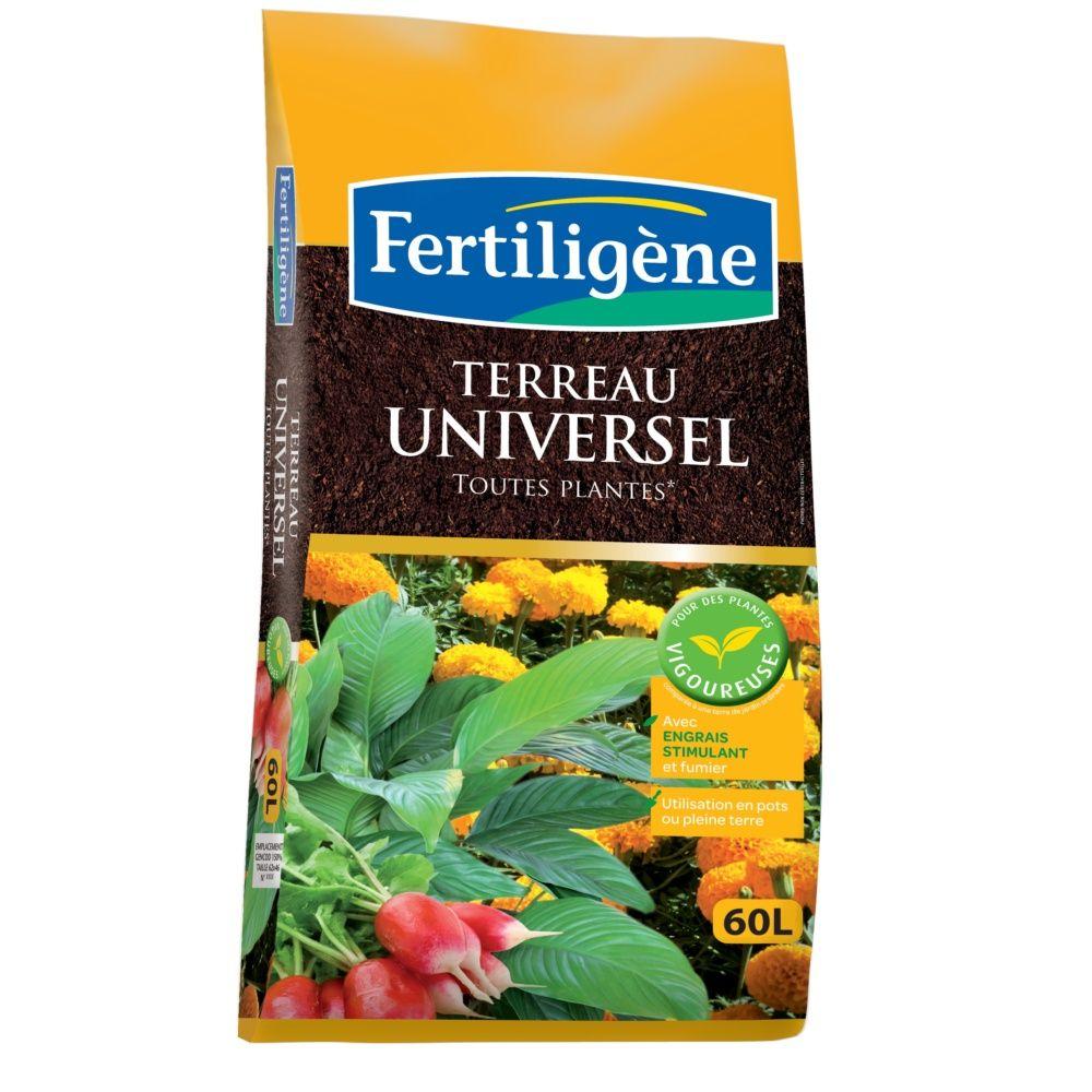 terreau universel 60 l enrichi en engrais fertilig ne plantes et jardins. Black Bedroom Furniture Sets. Home Design Ideas
