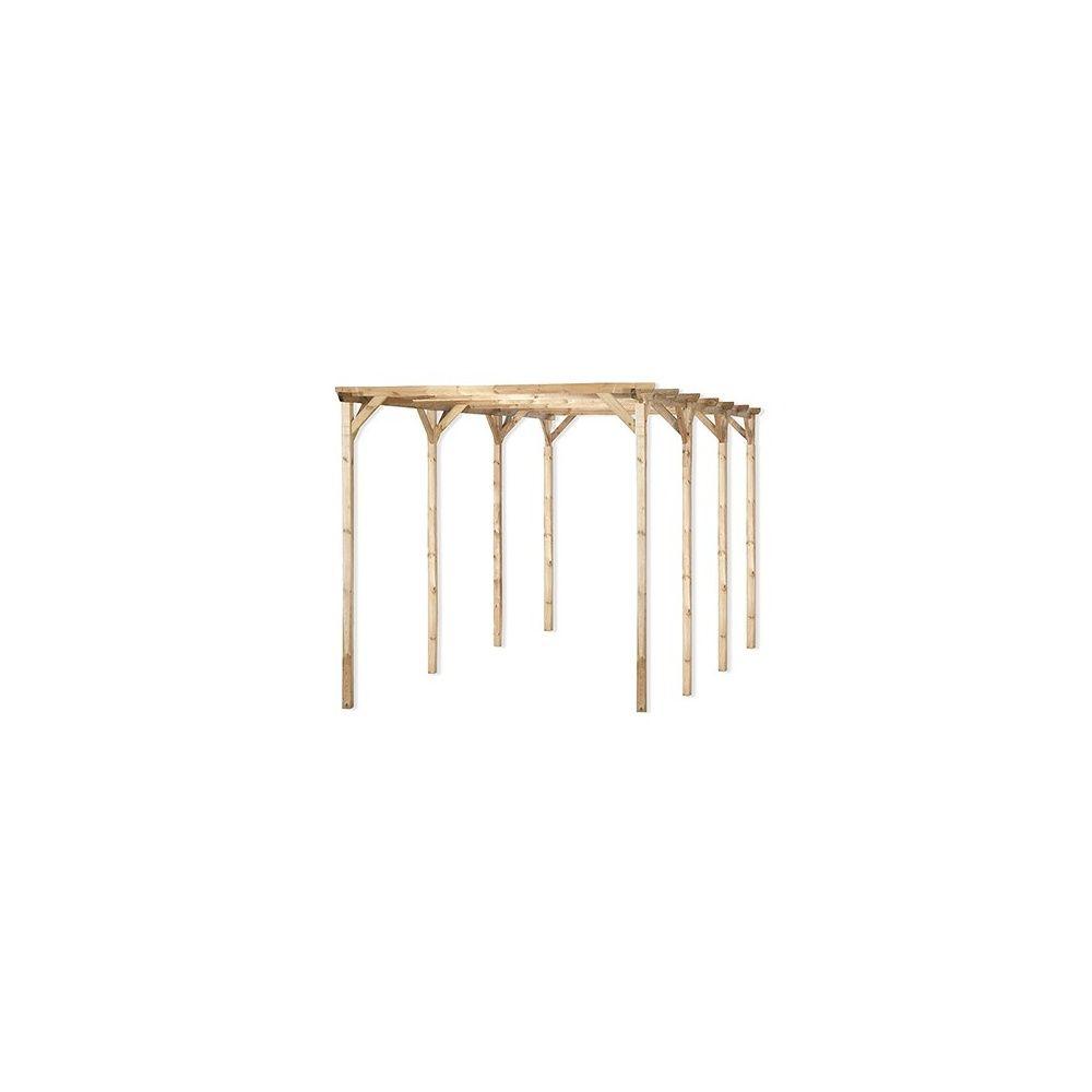 carport en bois trait grande longueur vert tilleul 300 x 612cm plantes et jardins. Black Bedroom Furniture Sets. Home Design Ideas