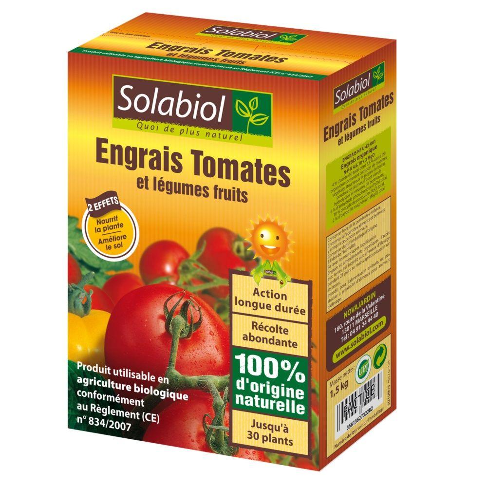 engrais bio tomates 1 5 kg solabiol plantes et jardins. Black Bedroom Furniture Sets. Home Design Ideas