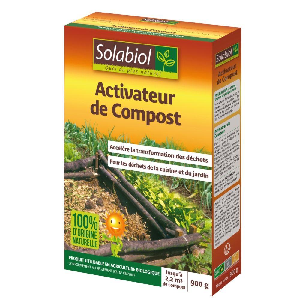 Activateur de compost biologique 900g solabiol plantes - Activateur de compost ...