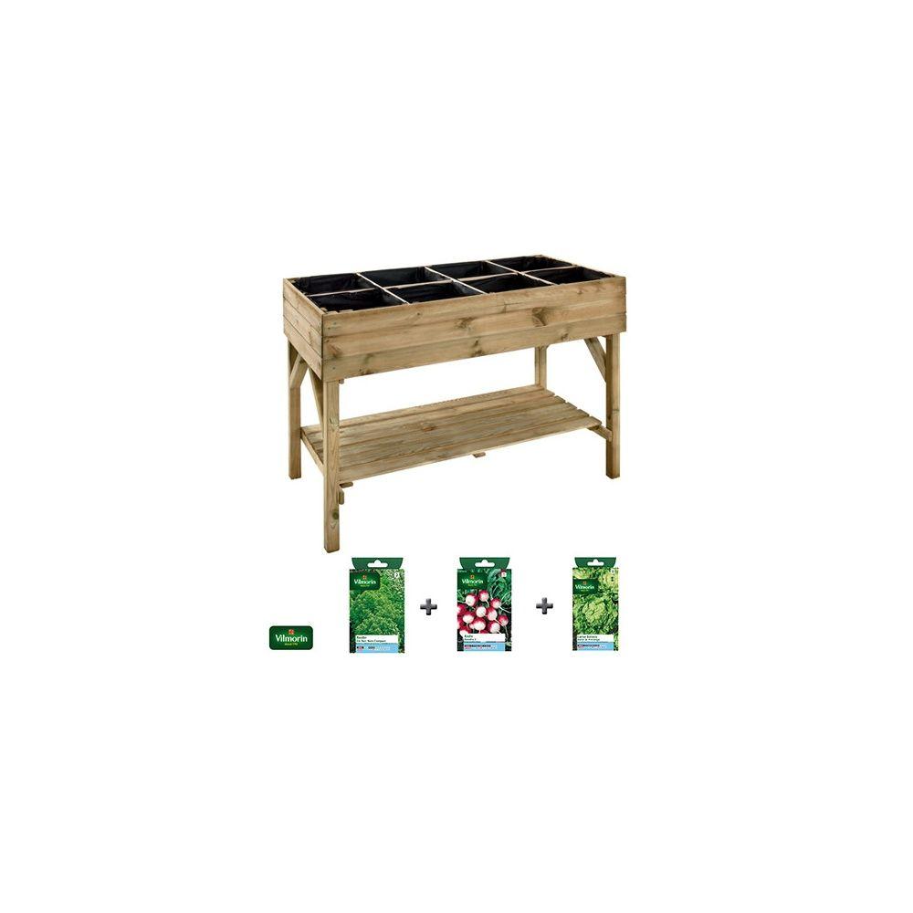 carr potager sur lev gariguette 3 sachets de graines offerts plantes et jardins. Black Bedroom Furniture Sets. Home Design Ideas