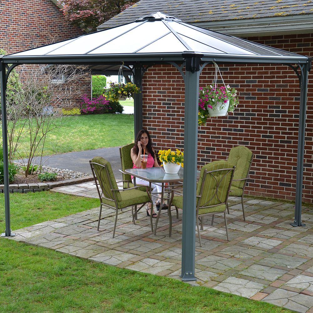 tonnelle autoportante couv 39 terrasse aluminium 3x3 m. Black Bedroom Furniture Sets. Home Design Ideas