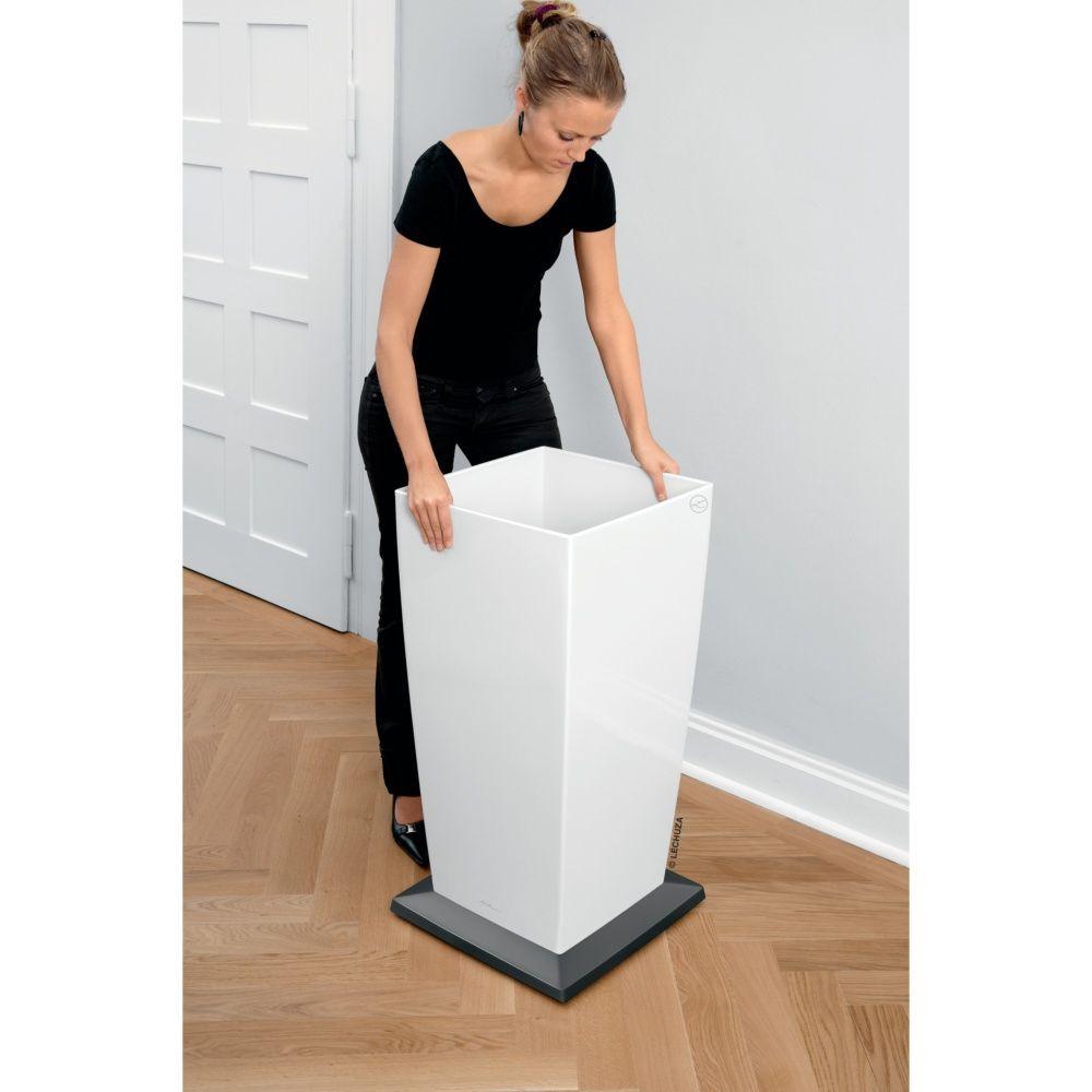 support roulettes lechuza pour cubico l40 cm plantes et. Black Bedroom Furniture Sets. Home Design Ideas