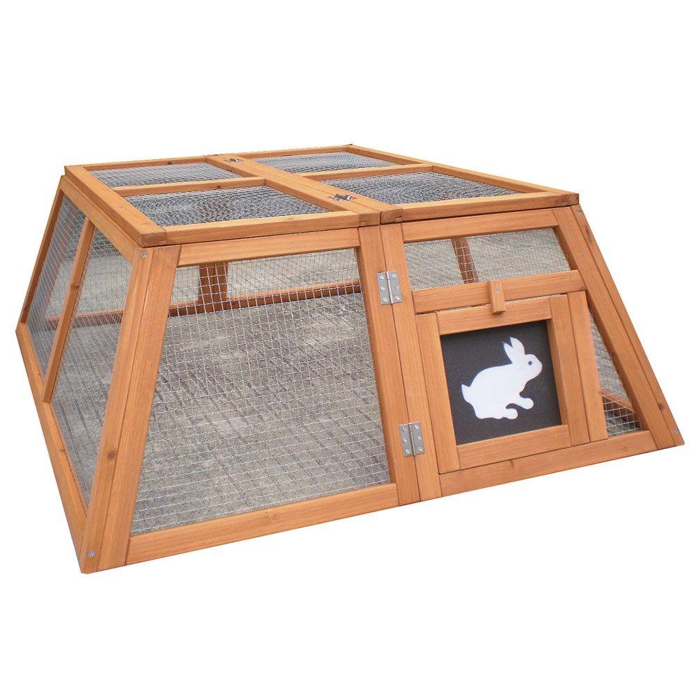 Enclos trap ze pliable pour petits animaux plantes et for Cage lapin nain exterieur
