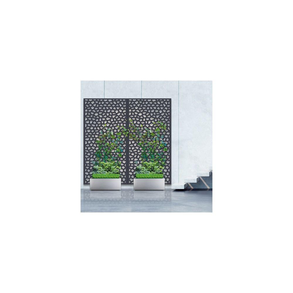 pack panneau d coratif mosa c anthracite vertical sur sol. Black Bedroom Furniture Sets. Home Design Ideas