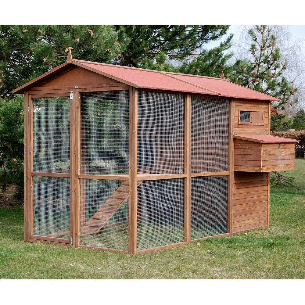 poulailler large square 8 12 poules plantes et jardins. Black Bedroom Furniture Sets. Home Design Ideas