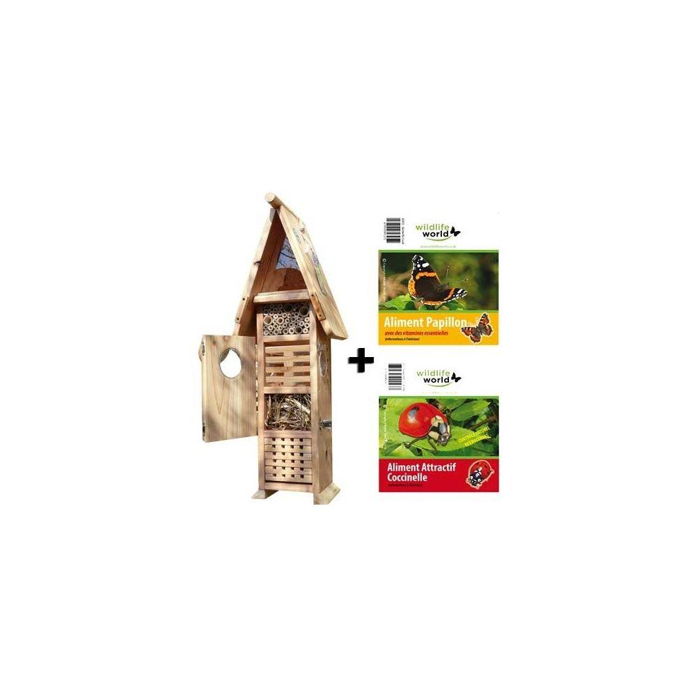 H tel insectes premium attractif pour coccinelles et nourriture pour papi - Plantes pour papillons ...