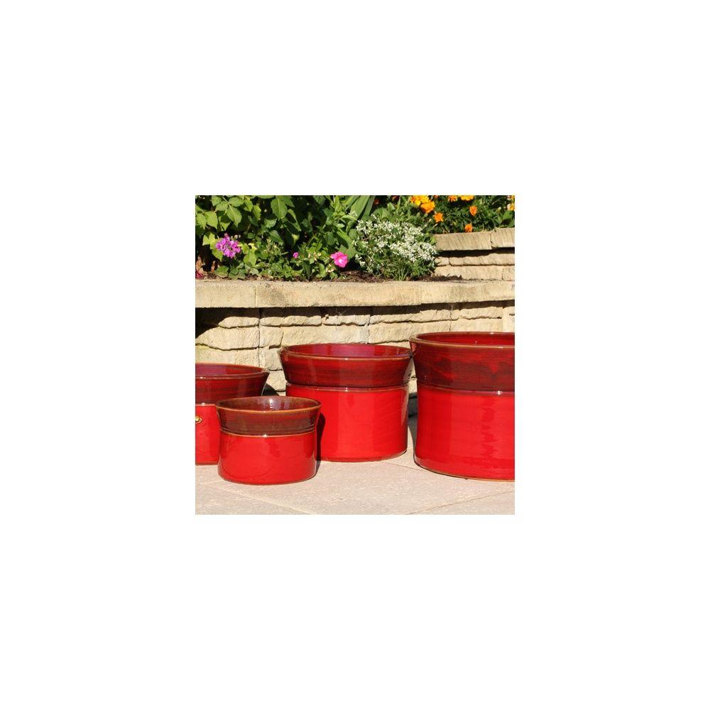 pot en terre cuite maill e more bois de santal d30 h22 plantes et jardins. Black Bedroom Furniture Sets. Home Design Ideas
