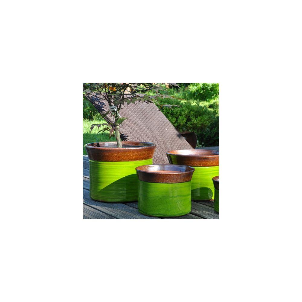 pot en terre cuite maill e more bois et nature d30 h22 plantes et jardins. Black Bedroom Furniture Sets. Home Design Ideas