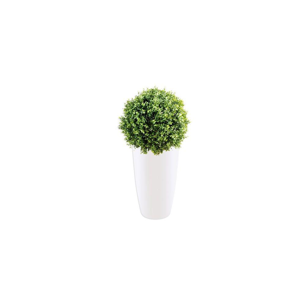 buis boule 30cm tronc naturel feuillage artificiel pot. Black Bedroom Furniture Sets. Home Design Ideas
