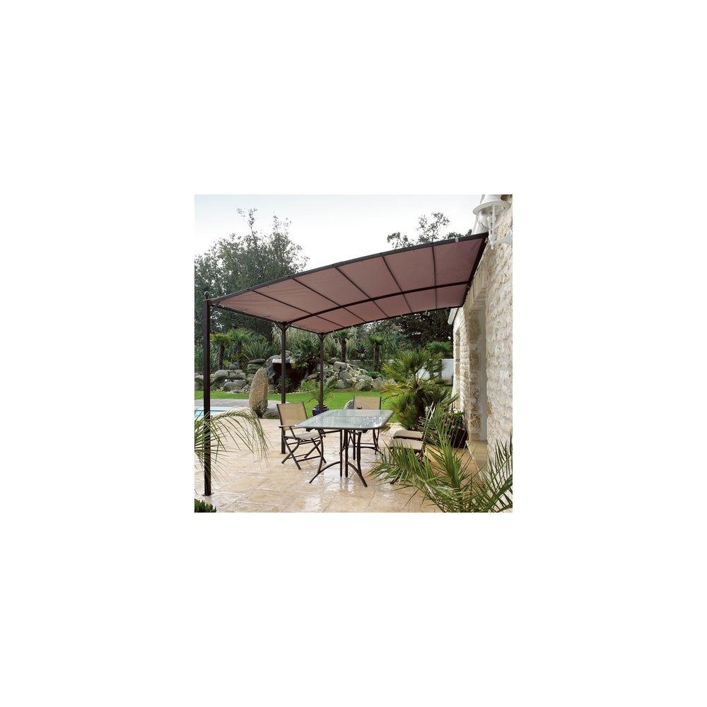 armature tonnelle proloisirs 4x3 toile universelle taupe couleurs du monde plantes et jardins. Black Bedroom Furniture Sets. Home Design Ideas