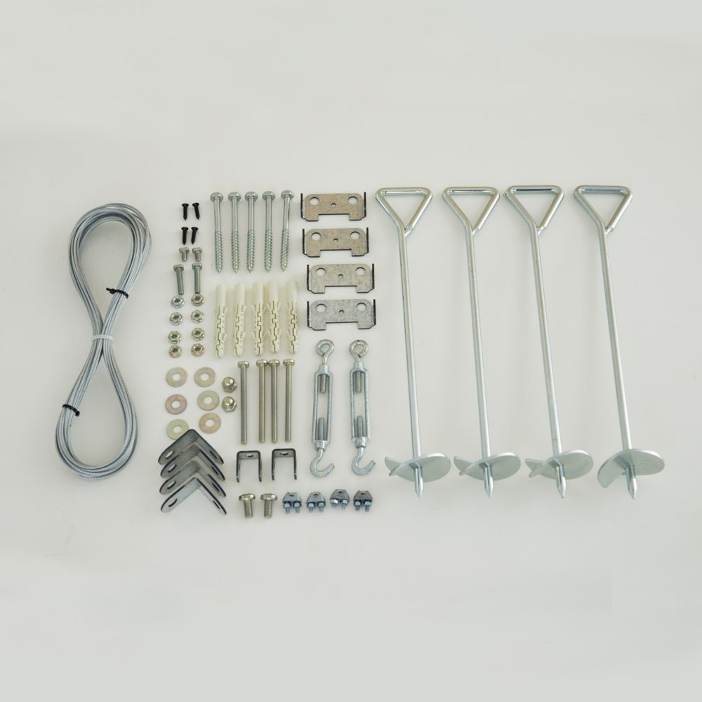 Kit d 39 ancrage pour serres plantes et jardins - Serres adossees en kit ...
