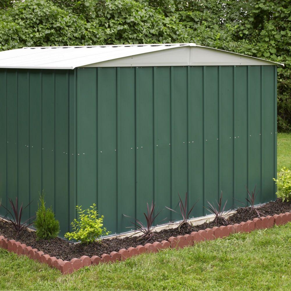 Abri de jardin m tal 11 60 m ep 0 22 mm plantes et jardins - Chalet de jardin metal ...