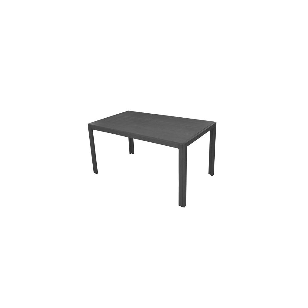table de jardin aluminium l160 l90 cm gris plantes et jardins. Black Bedroom Furniture Sets. Home Design Ideas