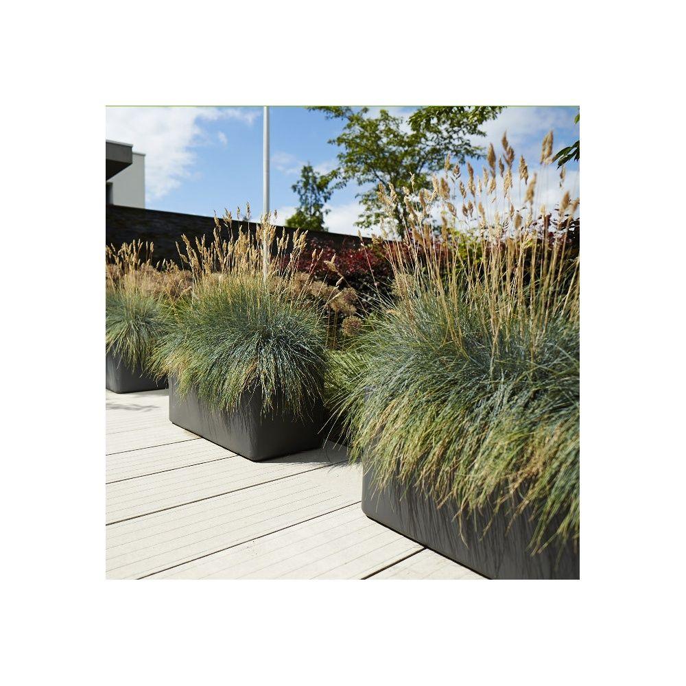 jardini re elho pure soft brick l80 h39 cm anthracite plantes et jardins. Black Bedroom Furniture Sets. Home Design Ideas