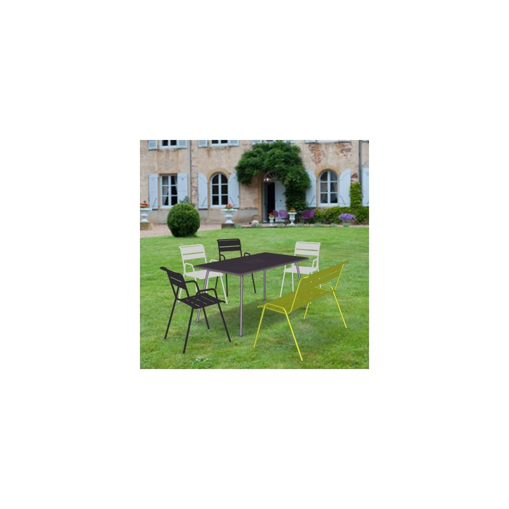 Table salon de jardin gamm vert Salon de jardin bois local