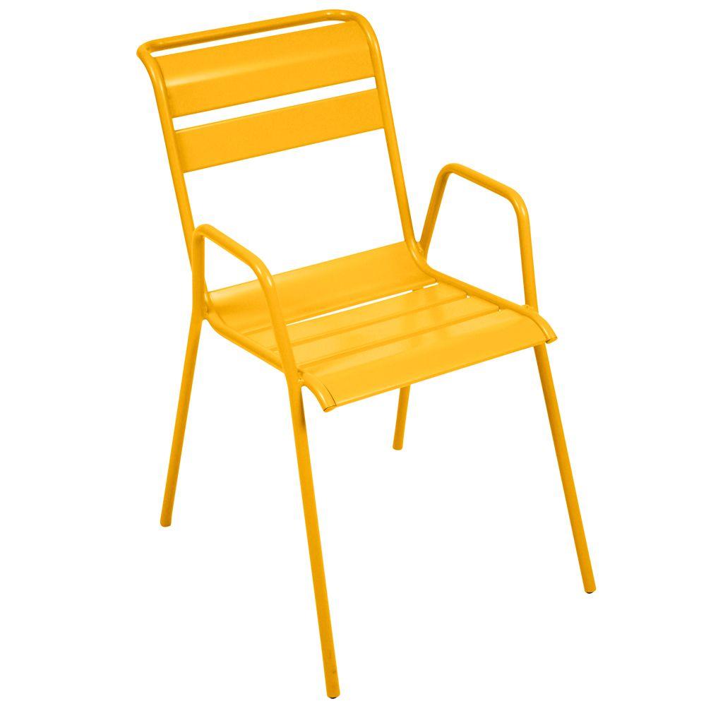 Salon de jardin fermob monceau table l146 l80cm 6 - Chaise de jardin fermob ...