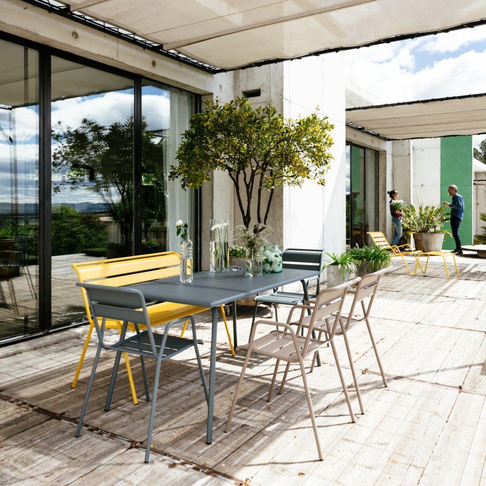 Table De Jardin Pliante Carrefour : Salon de jardin Fermob Monceau  Table l146 L80cm + 6 chaises
