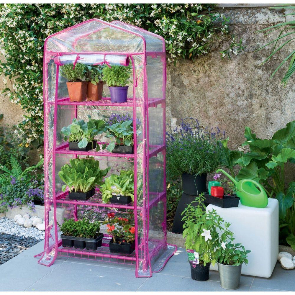 Mini serre de balcon ou terrasse 39 balcony 4 39 fushia - Fabriquer une mini serre pour semis ...