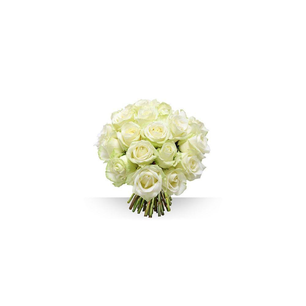 bouquet de 21 roses gros boutons blancs plantes et jardins. Black Bedroom Furniture Sets. Home Design Ideas