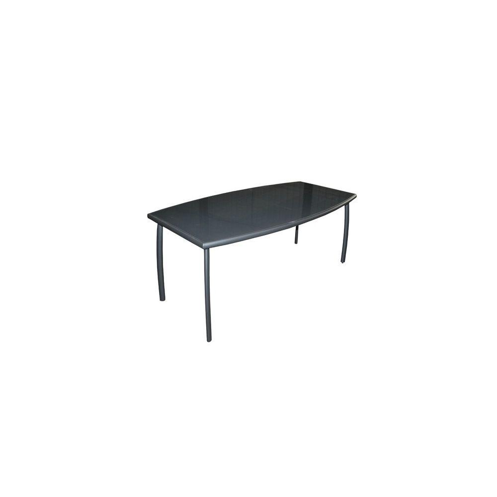 Table De Jardin Linea Aluminium Plateau Verre L200 L105 Cm