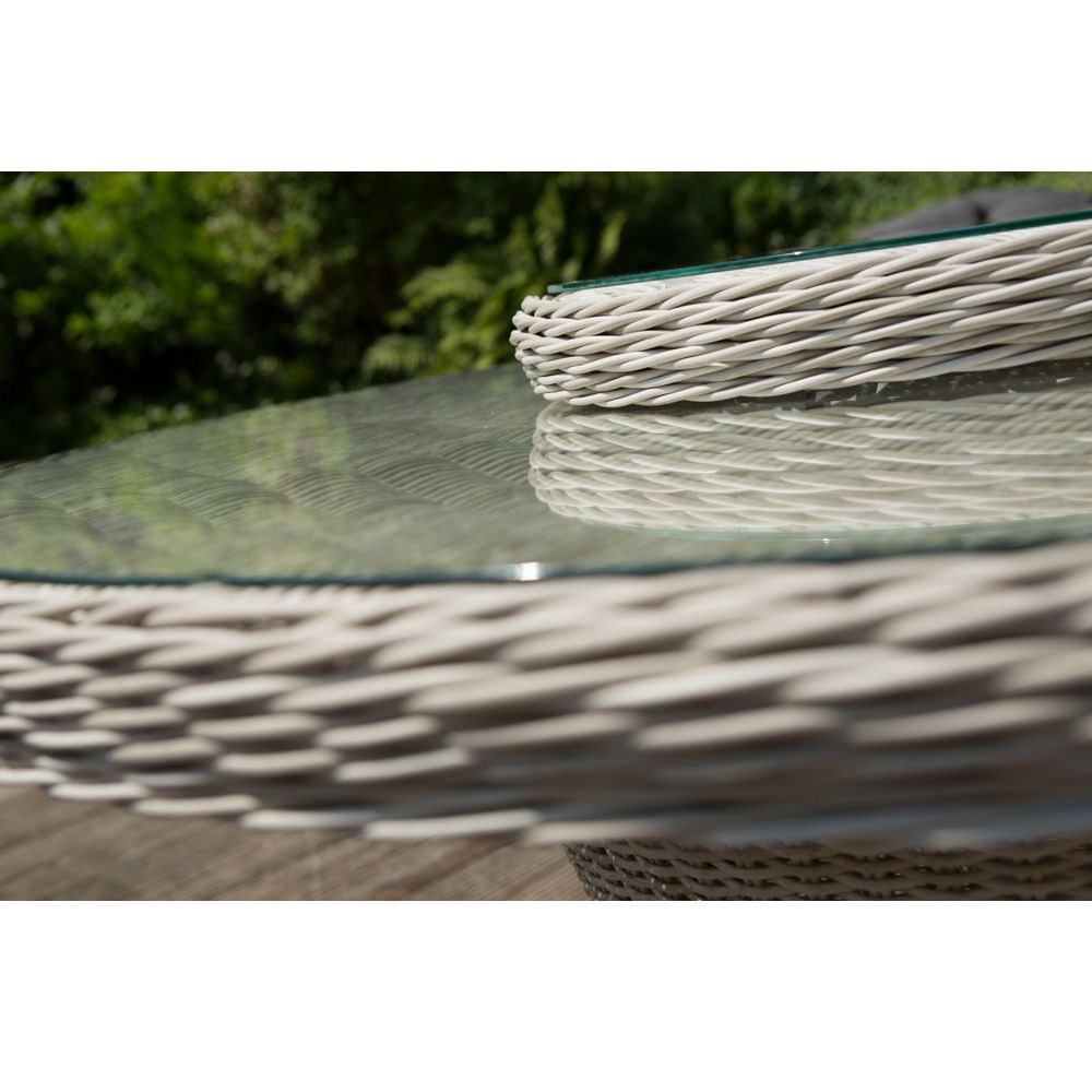 Table De Jardin Barcelona Kettler R Sine 144 Cm Sable Gris Plantes Et Jardins