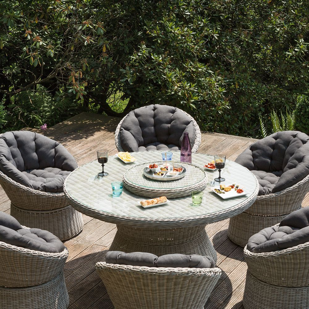 salon de jardin r sine kettler barcelona 6 fauteuils 1 table plantes et jardins. Black Bedroom Furniture Sets. Home Design Ideas
