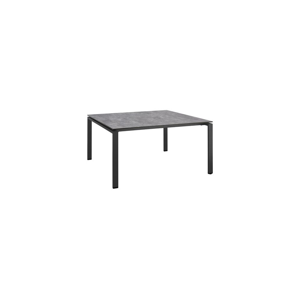 table hpl effet b ton bross 150 x 150 cm anthracite. Black Bedroom Furniture Sets. Home Design Ideas