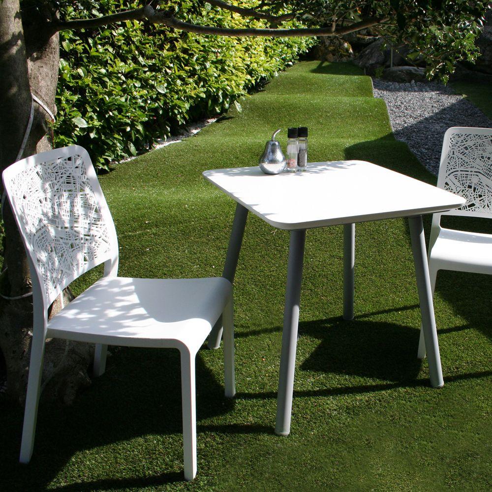 chaise charlotte city polypropyl ne blanc plantes et jardins