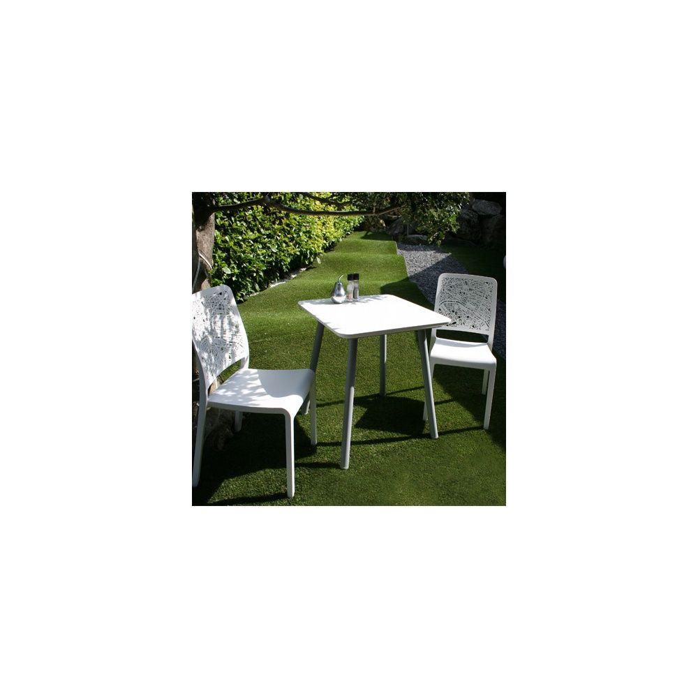 salon de jardin 2 personnes gu ridon julien 70 x 70 cm et 2 chaises charlotte city blanc. Black Bedroom Furniture Sets. Home Design Ideas