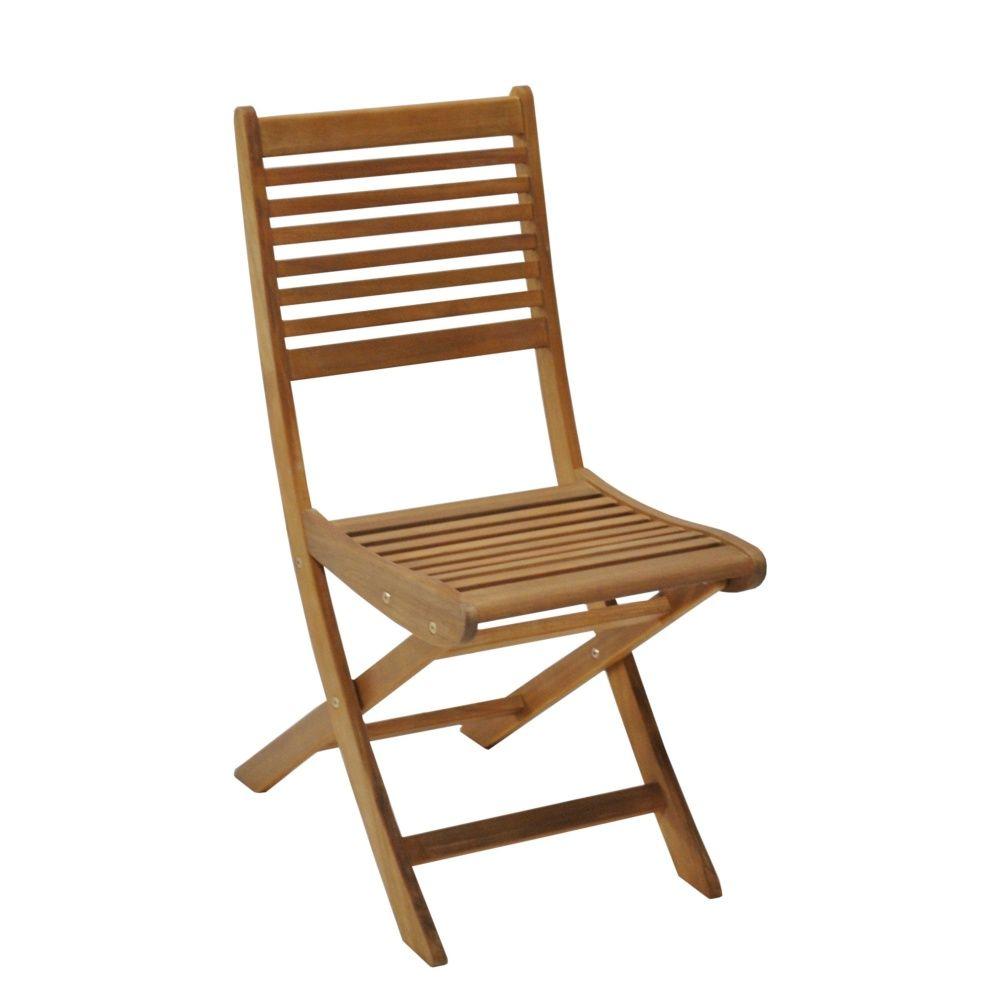 Lot de 2 chaises pliantes saturne bois plantes et jardins for Lot de chaises pliantes