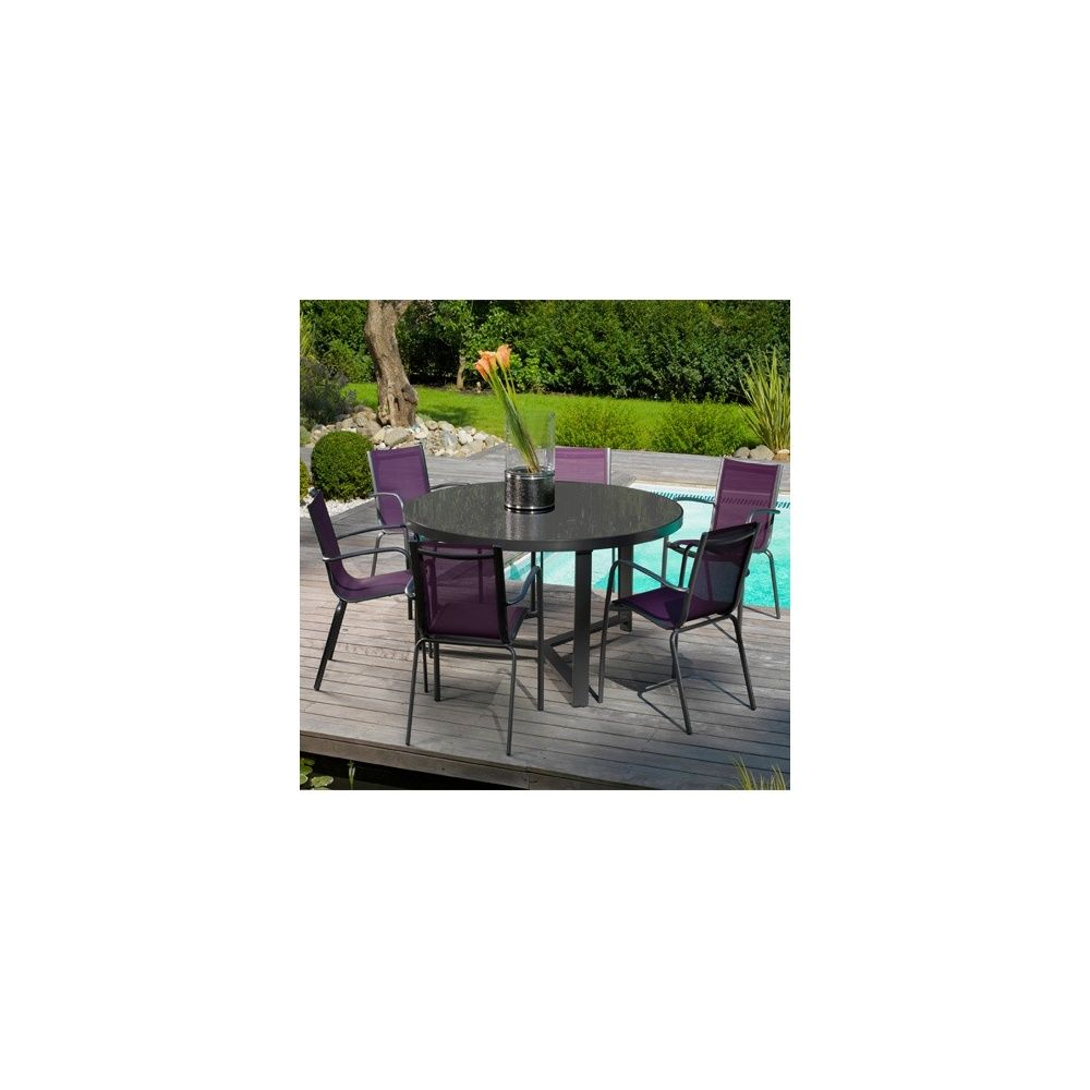 Table salon de jardin gamm vert for Salon de jardin leclerc catalogue