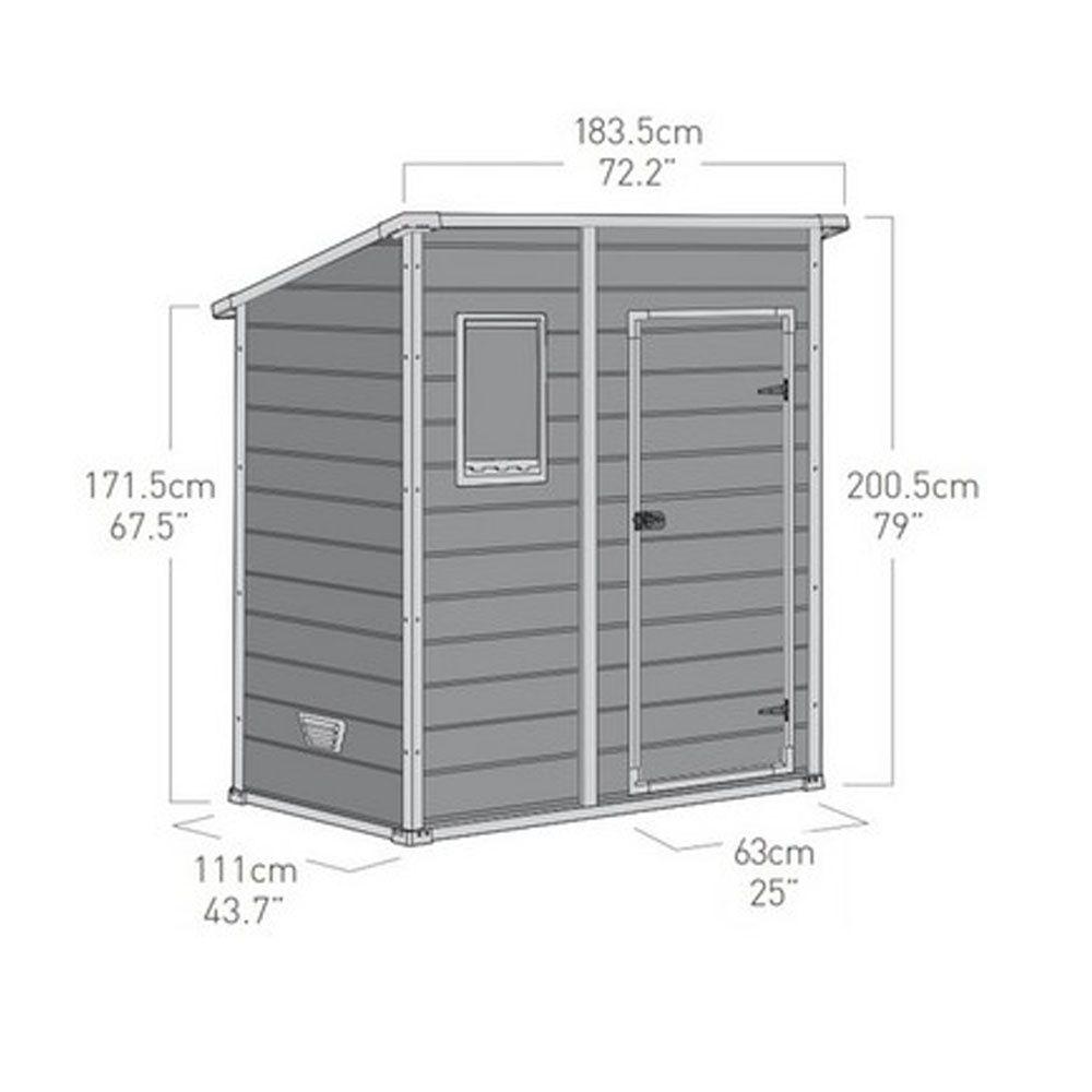 Petit abri de jardin en r sine 1 6 m ep 16 mm premium 64 plantes et jardins - Abri de jardin en resine premium 65 ...