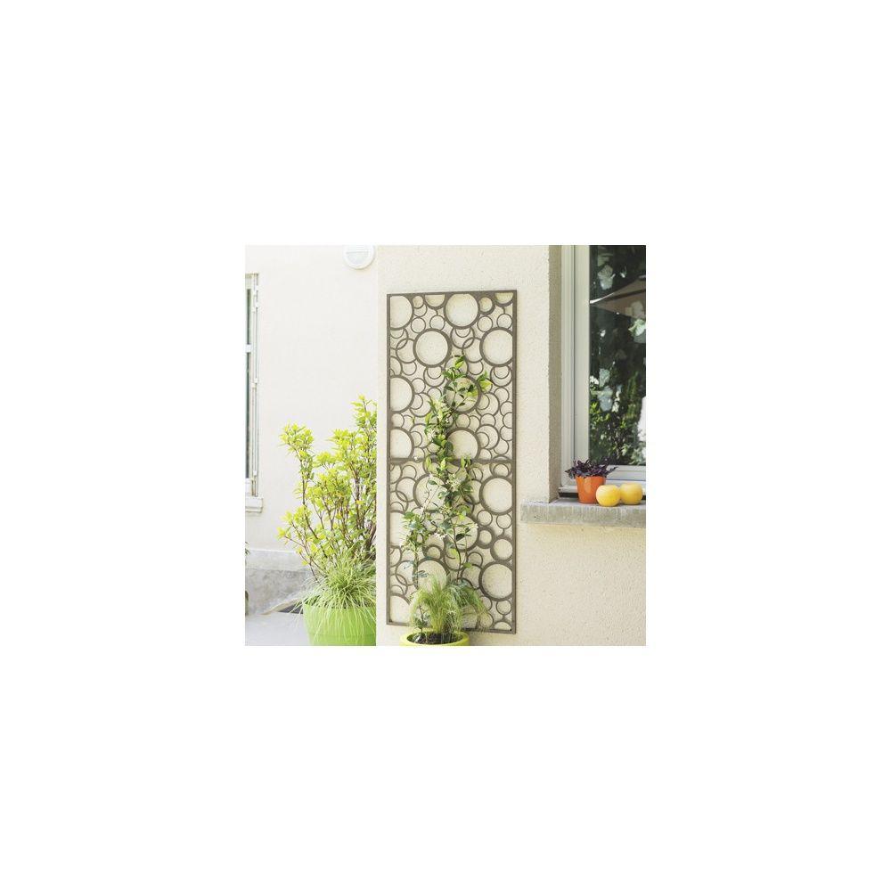 panneau d coratif en m tal avec motifs nort ne plantes et jardins. Black Bedroom Furniture Sets. Home Design Ideas