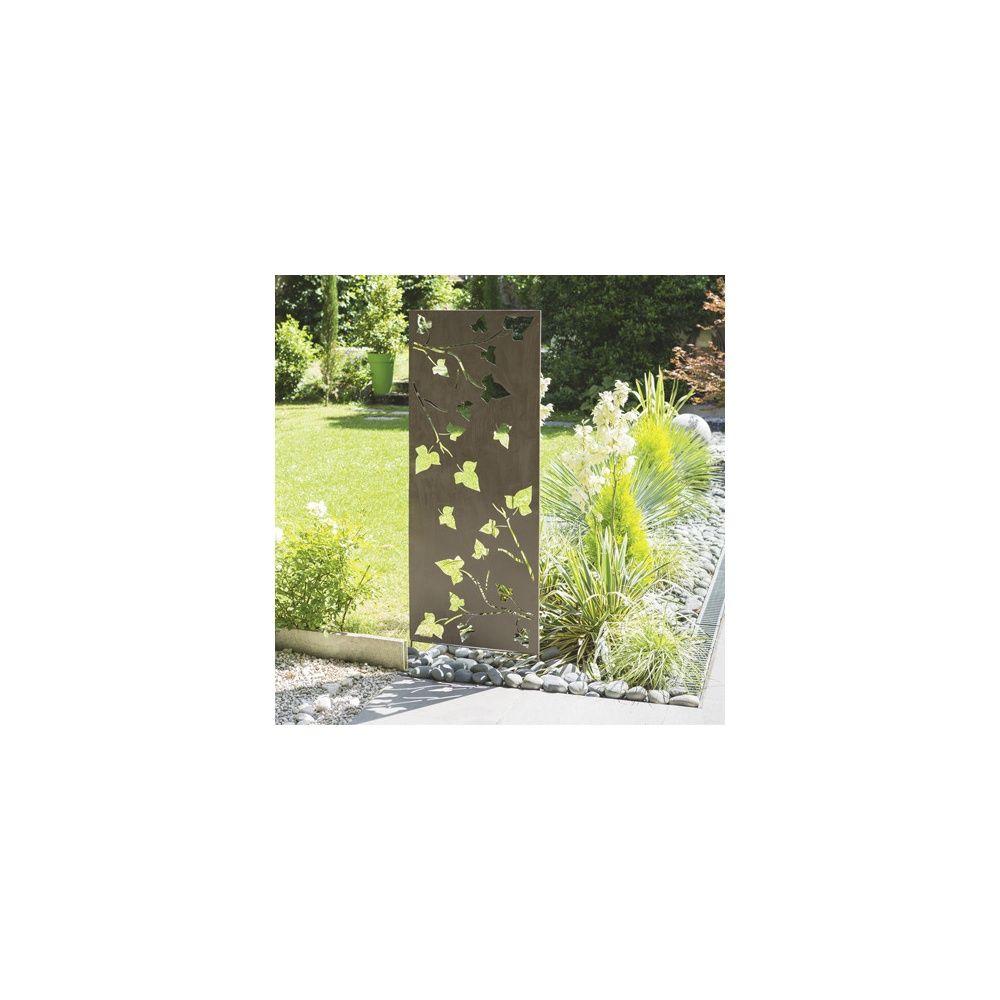 panneau d coratif en m tal avec motifs nort ne plantes. Black Bedroom Furniture Sets. Home Design Ideas