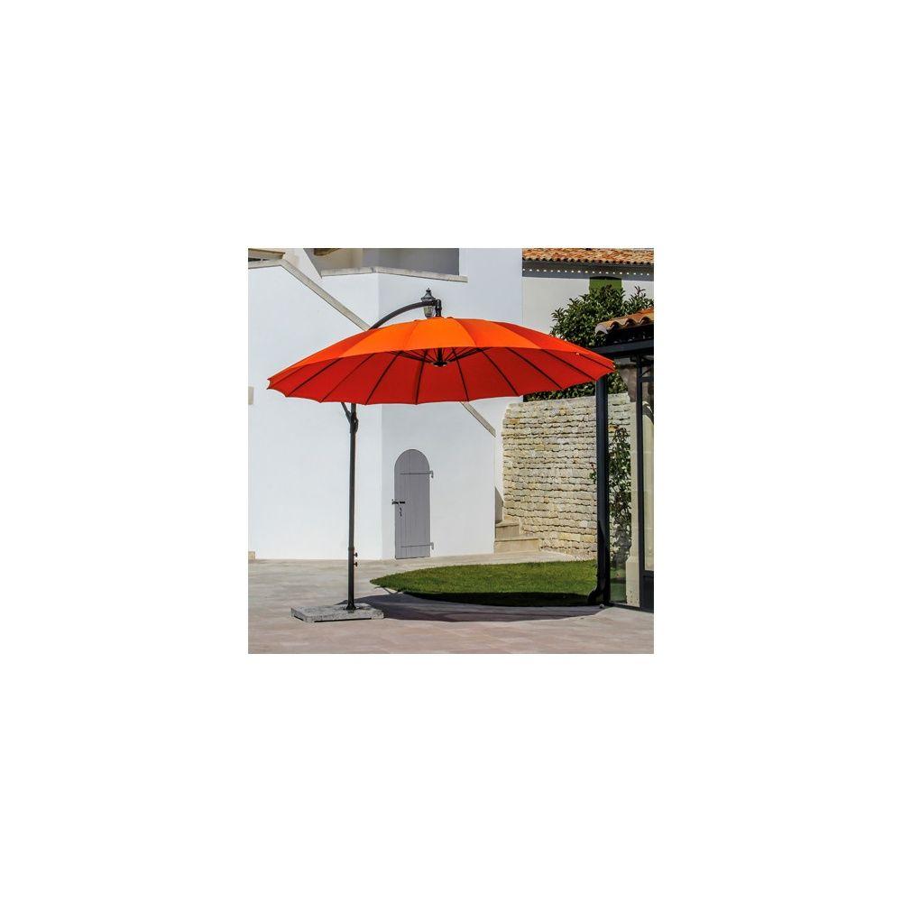 parasol d port pagode orientable rotation 360 3 m. Black Bedroom Furniture Sets. Home Design Ideas