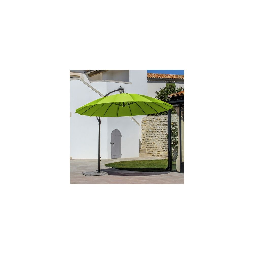 Parasol d port pagode orientable rotation 360 3 m - Parasol deporte vert anis ...