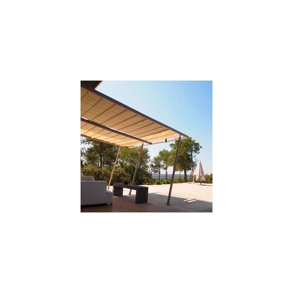 structure pour tonnelle de jardin adoss e 4x4 m boston. Black Bedroom Furniture Sets. Home Design Ideas