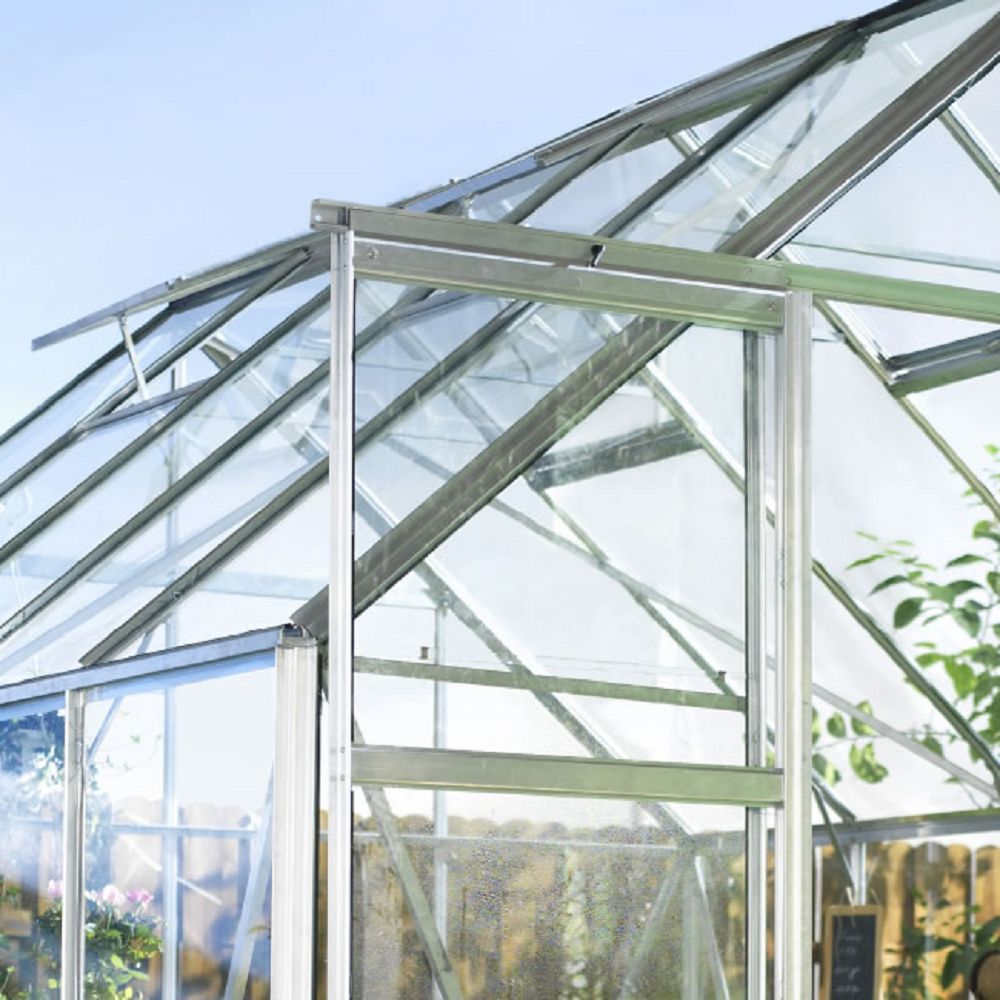 Serre De Jardin Magnum Verre Horticole 8 3 M Embase Halls Plantes Et Jardins