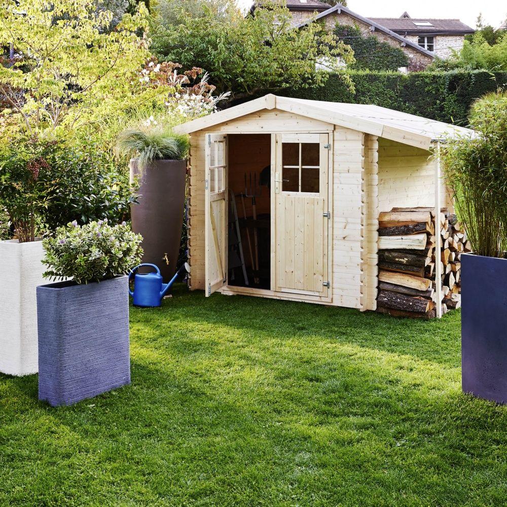 Abri de jardin en bois b cher 7 26 m ep 28 mm for Abri bois de jardin