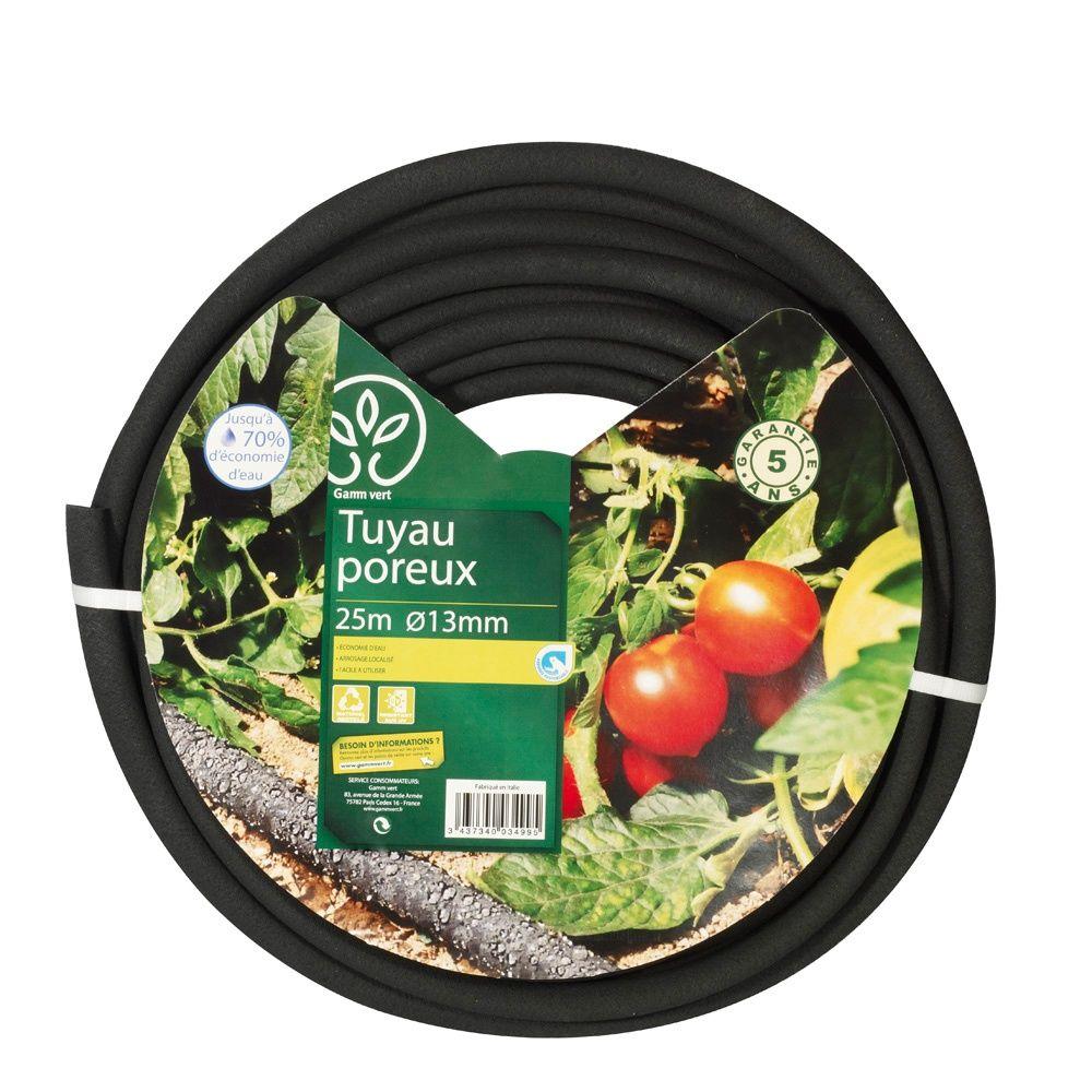 Tuyau poreux 25m diam tre 13mm gamm vert plantes et - Tuyau arrosage poreux ...