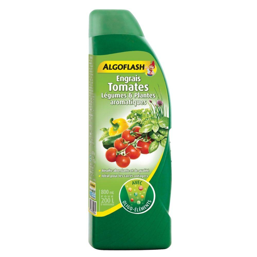 Engrais tomates et l gumes 800 ml algoflash plantes et jardins - Engrais pour tomates ...